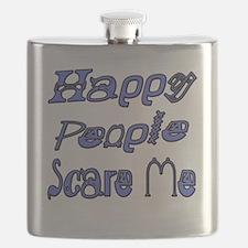 Happy People Scare Me 1 copy Flask