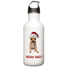 Xmas Chihuahua Water Bottle