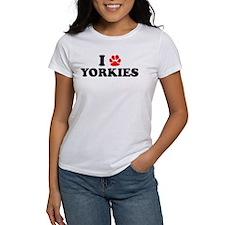 I Heart (Pawprint) Yorkies Tee