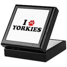 I Heart (Pawprint) Yorkies Keepsake Box