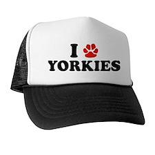 I Heart (Pawprint) Yorkies Trucker Hat