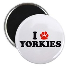 I Heart (Pawprint) Yorkies Magnet