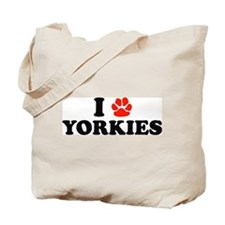 I Heart (Pawprint) Yorkies Tote Bag