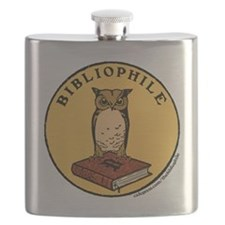 Bibliophile Seal (w/ text) Flask