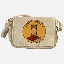 Bibliophile Seal (w/ text) Messenger Bag
