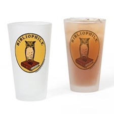 Bibliophile Seal (w/ text) Drinking Glass