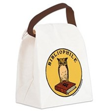 Bibliophile Seal (w/ text) Canvas Lunch Bag