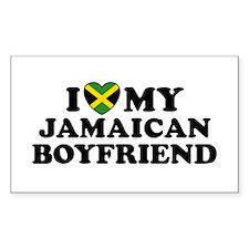 I Love My Jamaican Boyfriend Rectangle Decal