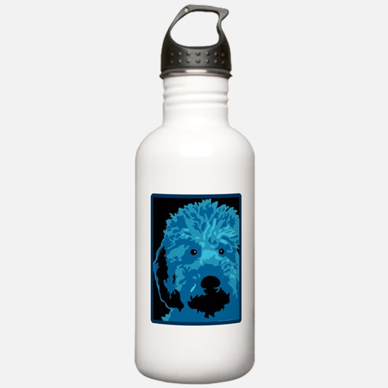 What a blue dog! Water Bottle