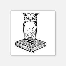 "2Bibliophile Logo 2-Tone (d Square Sticker 3"" x 3"""
