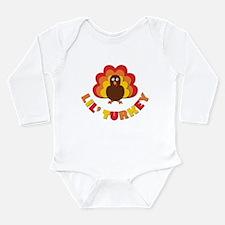 Lil' Turkey Long Sleeve Infant Bodysuit