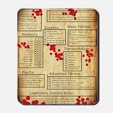 3-Zombie checklist Mousepad