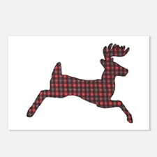 Whitetail plaid Postcards (Package of 8)