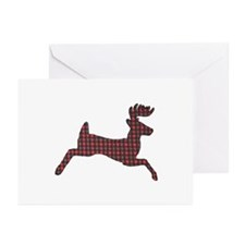 Whitetail plaid Greeting Cards (Pk of 20)