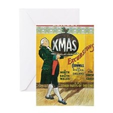 Great Western Railway Christmas Excu Greeting Card