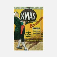 Great Western Railway Christmas E Rectangle Magnet