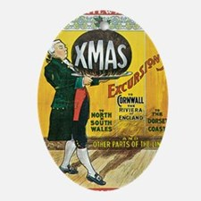 Great Western Railway Christmas Excu Oval Ornament