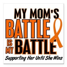 """Cute Kidney cancer Square Car Magnet 3"""" x 3"""""""