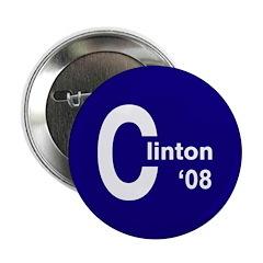 C: Clinton '08 Button