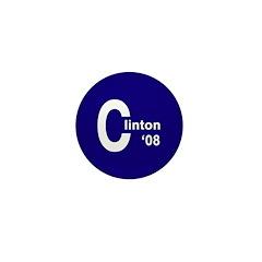 C: Clinton '08 Mini Button (10 pack)