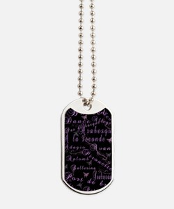 French Ballet Terms Journal Dog Tags
