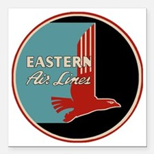 """Eastern Airlines Square Car Magnet 3"""" x 3"""""""