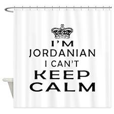 I Am Jordanian I Can Not Keep Calm Shower Curtain