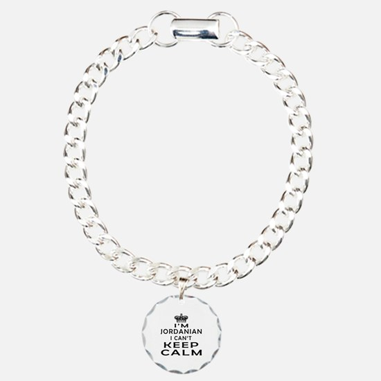 I Am Jordanian I Can Not Keep Calm Charm Bracelet,