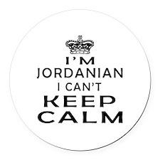 I Am Jordanian I Can Not Keep Calm Round Car Magne