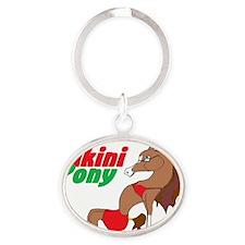 Bikini Pony Oval Keychain