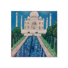 "Taj Mahal Square Sticker 3"" x 3"""