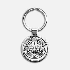 Aztec_0219_b Round Keychain