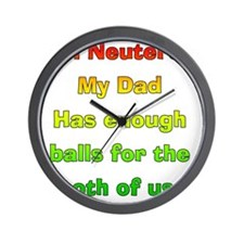 My_Dog_Is_Nutured2 Wall Clock