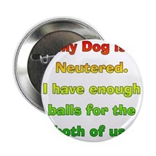 "My_Dog_Is_Neutered 2.25"" Button"