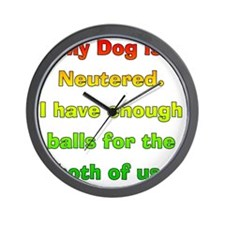 My_Dog_Is_Neutered Wall Clock