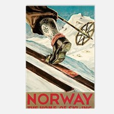 Norway The Home Of Skiing Postcards (Package of 8)