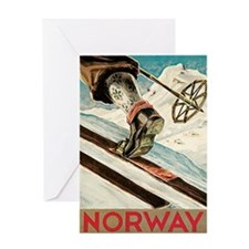 Norway The Home Of Skiing Greeting Card