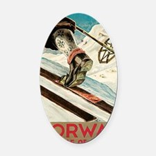 Norway The Home Of Skiing Oval Car Magnet