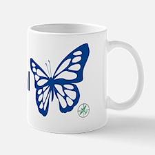 Social Butterfly - Blue Mug
