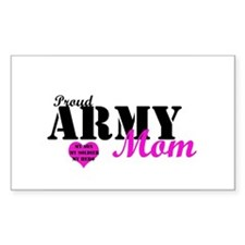 Army Moms Rectangle Decal