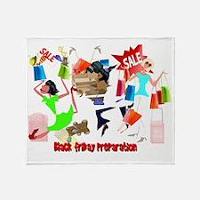 Bllack Friday Preparation 4x3Trans Throw Blanket