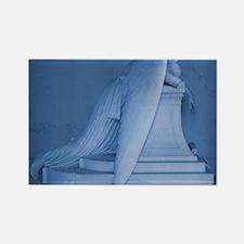 blue landscape weeping angel Rectangle Magnet