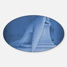 blue landscape weeping angel Decal