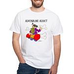 Adrenaline Addict White T-Shirt