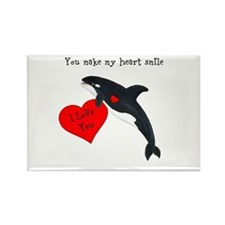 Personalized Whale Valentine Magnets
