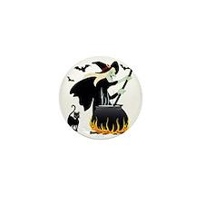 Witch  cauldron Mini Button