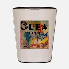 cuba 2014 calendar Shot Glass