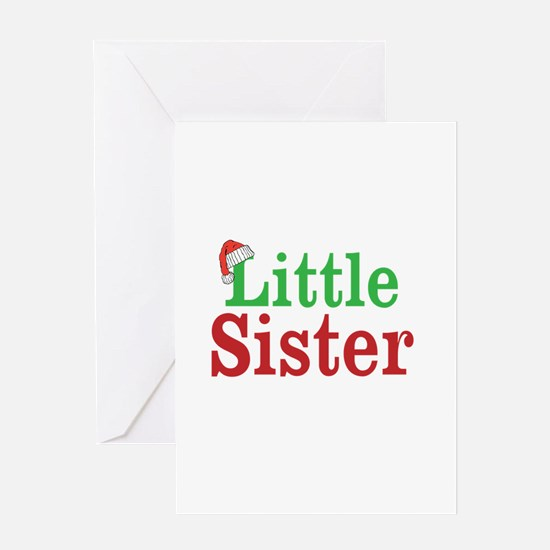Christmas little Sister Greeting Cards