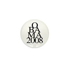 Layers: Obama 2008 Mini Button (100 pack)