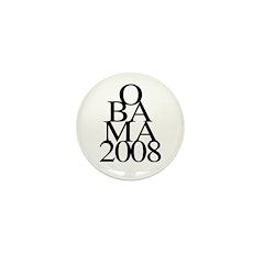 Layers: Obama 2008 Mini Button (10 pack)